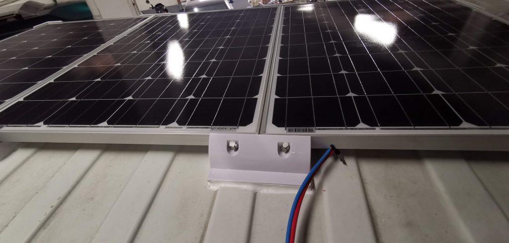 3 Solarmodule auf dem Fiat Ducato Camper